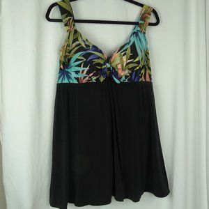 St. John's Bay Swimsuit One Piece Swim Dress 20W